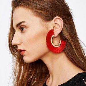 Bohemian Style Sector Pierced Ear Studs